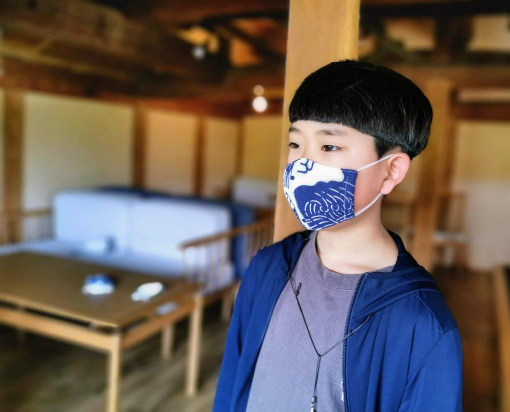 子ども用マスク またいち柄 ~ご当地マスク~